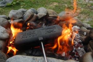 kinderfeestje vuur maken