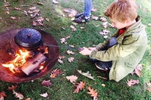 koken op het vuur
